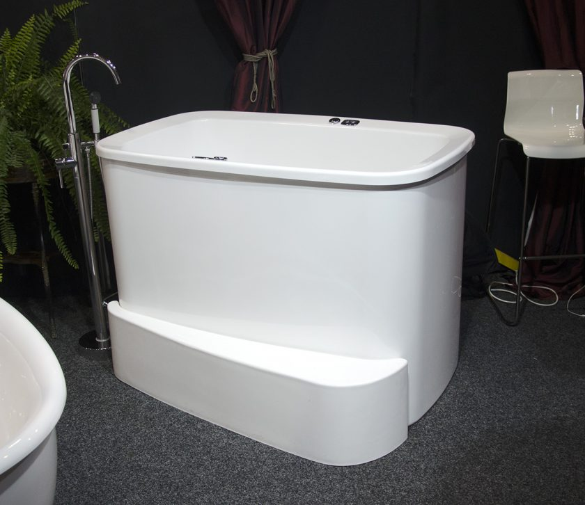 Small freestanding soaking tub 10 bathroom shower for Narrow deep soaking tub