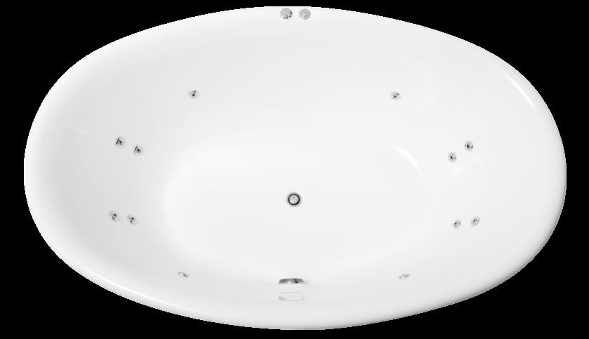 oval bath