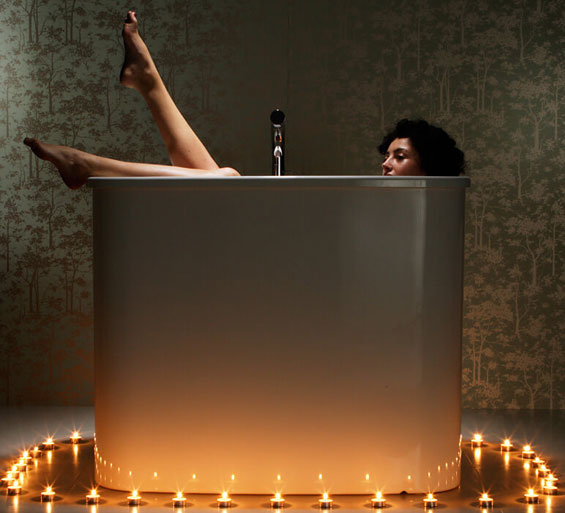 Japanese Freestanding Spa Bath - picture taken for Vogue Magazine